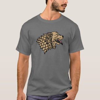 Symbol of Golden Retviever in harness T-Shirt