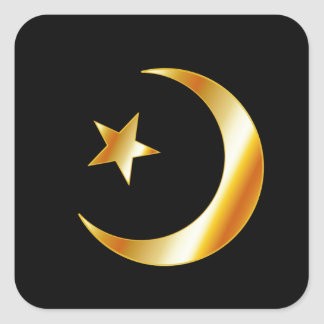 Symbol of Islam religion Square Sticker