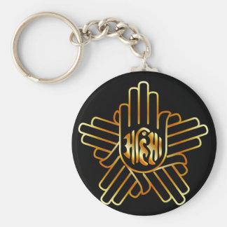 Symbol of Jainism in gold Key Ring