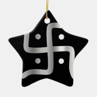 Symbol of Jainism religion Ceramic Ornament