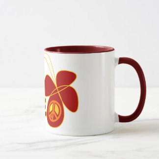 Symbol Peace Of Sign Butterfly Mug