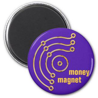 Symbol RUNA / GOLD, money, magnet, violet 6 Cm Round Magnet