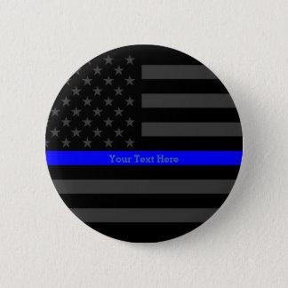 Symbol Thin Blue Line Personalized Black US Flag 6 Cm Round Badge
