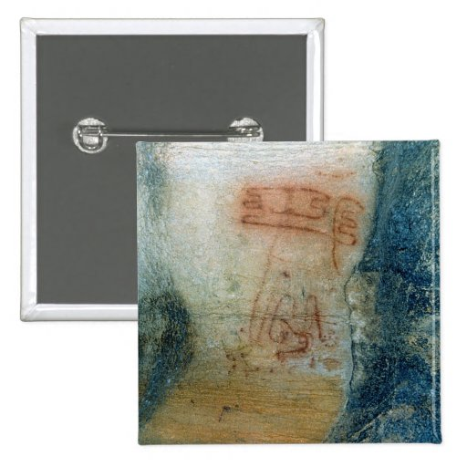 Symbolic figures (cave painting) pin