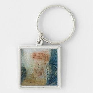 Symbolic figures (cave painting) keychain