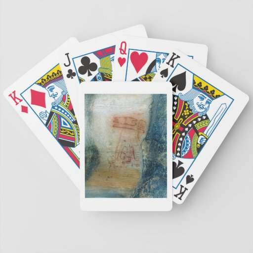Symbolic figures (cave painting) bicycle card deck