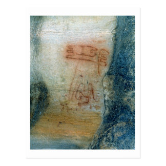 Symbolic figures (cave painting) postcard