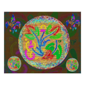 Symbolic Life Force - Floral Posters
