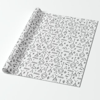 Symbolic linear pattern Wrapping Paper