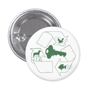 Symbolic Recycling is Key by Mudge Studios Buttons