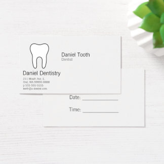 Symbolic Tooth Business Card