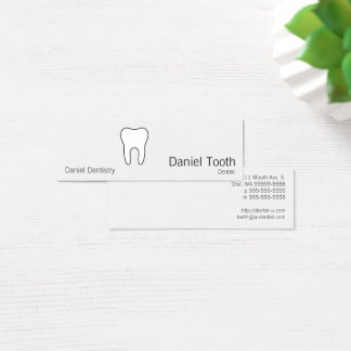 Symbolic Tooth Mini Business Card