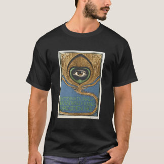 Symbolist Art Nouveau Peacock Feather Eye 1901 T-Shirt
