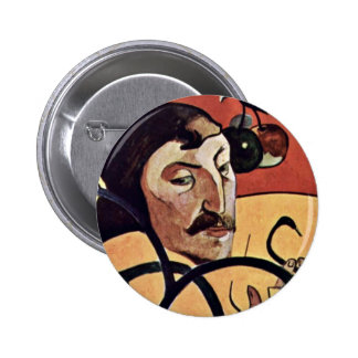 Symbolist Self-Portrait With Halo By Gauguin Paul Pinback Buttons