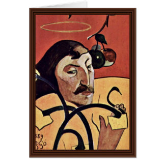 Symbolist Self-Portrait With Halo By Gauguin Paul Greeting Card