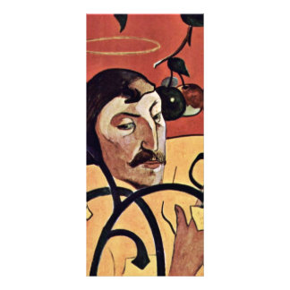 Symbolist Self-Portrait With Halo By Gauguin Paul Full Color Rack Card