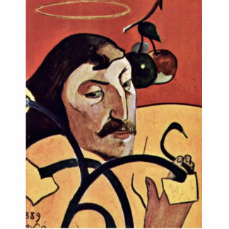Symbolist Self-Portrait With Halo By Gauguin Paul Acrylic Cut Out