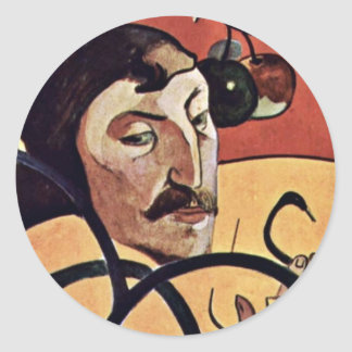 Symbolist Self-Portrait With Halo By Gauguin Paul Round Sticker