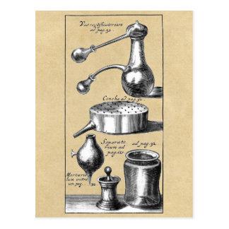 Symbols and Tools of An Alchemist Postcard