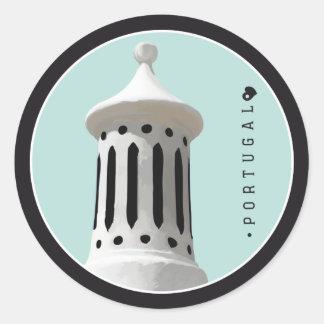 Symbols of Portugal - Algarve Chimney Classic Round Sticker