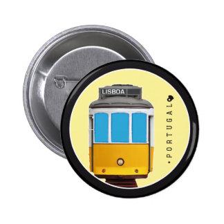 Symbols of Portugal - Lisbon Tramway 6 Cm Round Badge