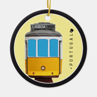 Symbols of Portugal - Lisbon Tramway Ceramic Ornament