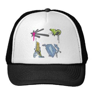 Symbols set design mesh hats