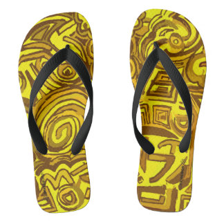 Symbols thongs yellow Ludodesign