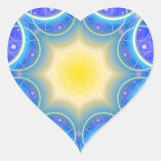 symmetric circles happy and joy symbol sticker