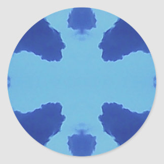 Symmetric Clouds Round Sticker