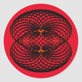 Symmetric pattern round sticker