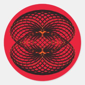 Symmetric pattern round sticker