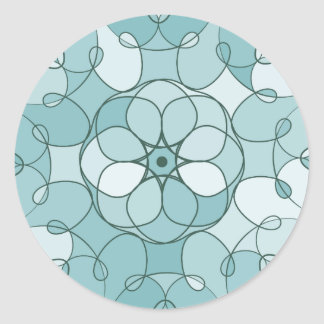 Symmetrical design round sticker