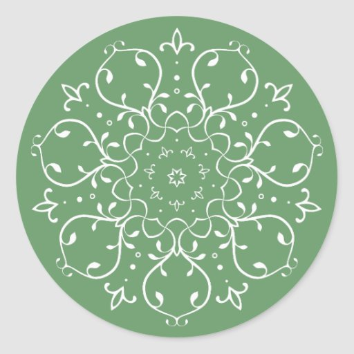 Symmetrical floral design sticker
