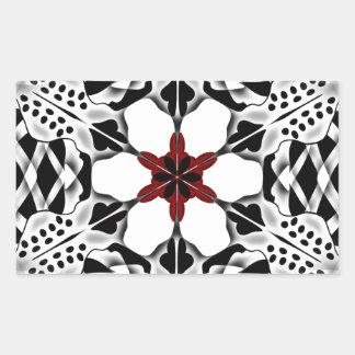 Symmetrical Flower pattern Rectangular Sticker