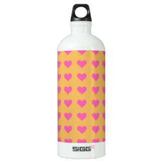 Symmetrical Pink Hearts On Beeswax. Tangerine SIGG Traveler 1.0L Water Bottle