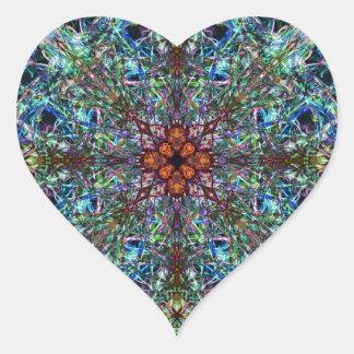 Symmetrical Silk Strands Heart Sticker