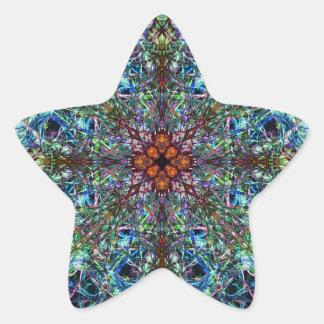 Symmetrical Silk Strands Star Stickers