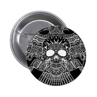 Symmetrical Skull with Guns and bullets by Al Rio Pins