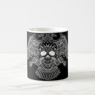 Symmetrical Skull with Guns and bullets by Al Rio Classic White Coffee Mug