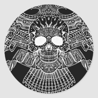 Symmetrical Skull with Guns and bullets by Al Rio Sticker