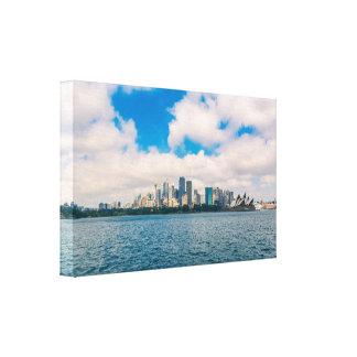 Symmetrical view at Sydney city centre Canvas Print