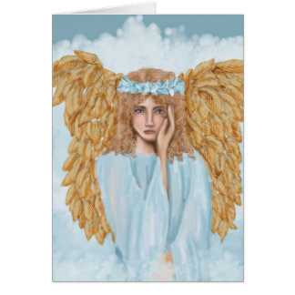 Sympathy  and Condolences Card with Angel
