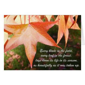 Sympathy Autumn Leaves Card
