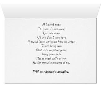 Sympathy Card featuring poem By Robert Herrick