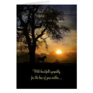 Sympathy Card Loss of Mother, Condolences for Mum