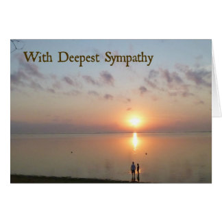 Sympathy Card - On the beach