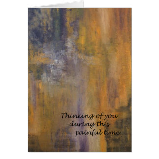 Sympathy Card (painting Golden Haze) by DAL