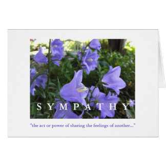 Sympathy Card, Peonies and Columbine in the Rain Card