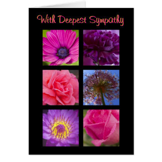 Sympathy Card - Pink Purple Flowers
